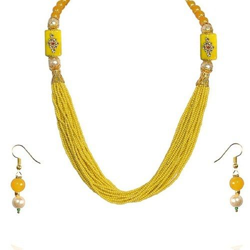 2d920a1693f41 Ankur stylish nigerian peal necklace set for women - Ankur Hub