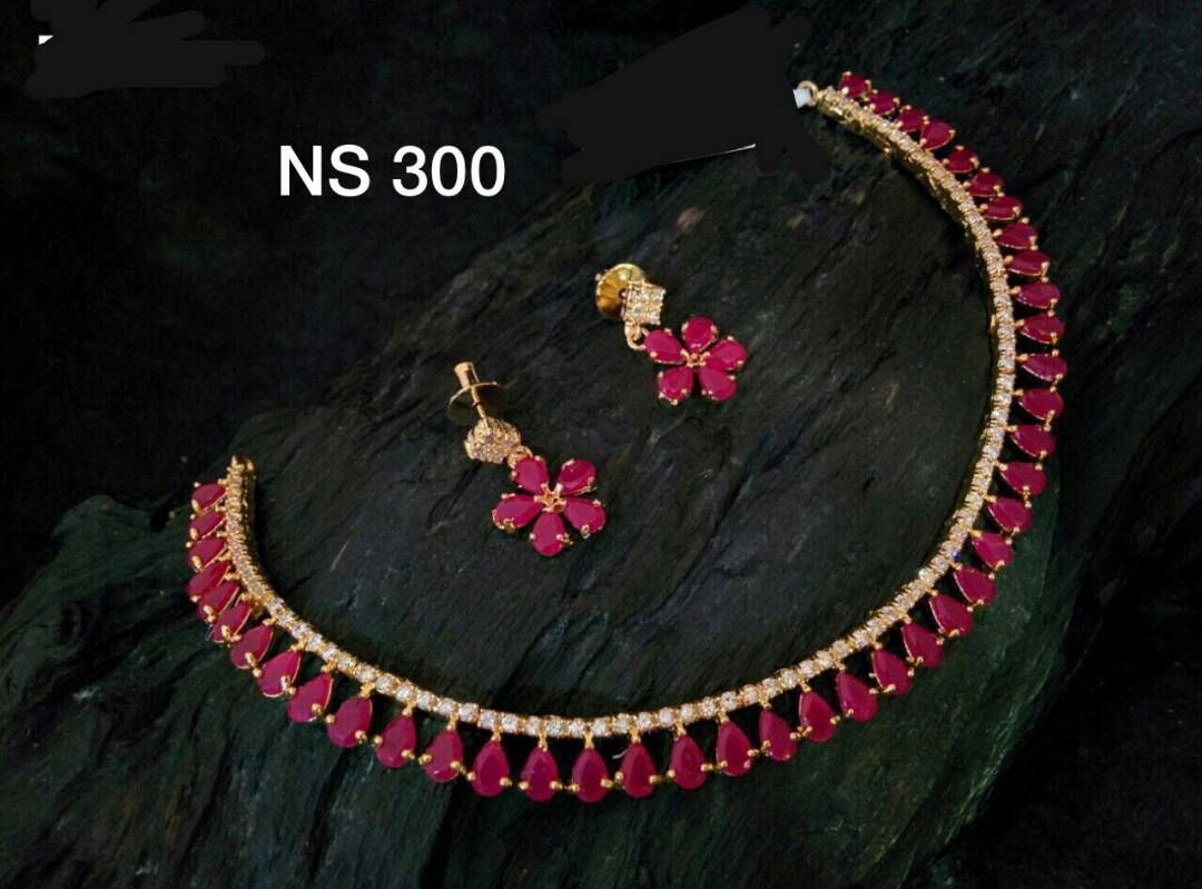 with designers designs stone pearl buy zoom earrings designer necklace set golden chain shreevaram matching